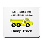 Christmas Dump Truck Mousepad