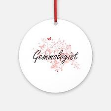 Gemmologist Artistic Job Design wit Round Ornament