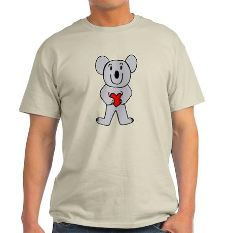 Koala in Love Light T-Shirt