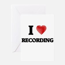 I Love Recording Greeting Cards