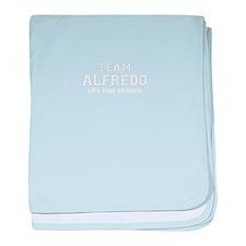 Team ALFREDO, life time member baby blanket