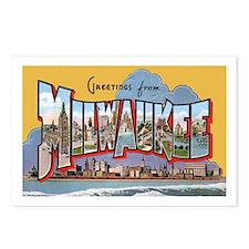 Milwaukee Wisconsin Greetings Postcards (Package o