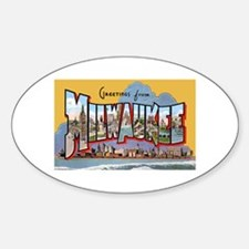 Milwaukee Wisconsin Greetings Oval Decal