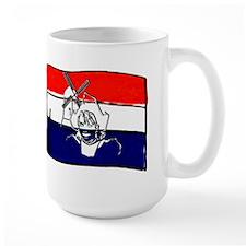 Dutch Flag With Sketch Mug