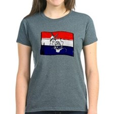 Dutch flag with sketch Tee
