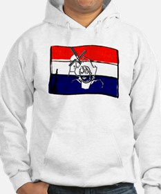 Dutch flag with sketch Hoodie