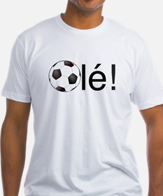 Ole - Football (Soccer) Chant Black Text T-Shirt