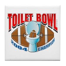 Fantasy Football Toilet Bowl Tile Coaster