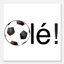 Ole - Football (Soccer) Chant Black Text Square Ca