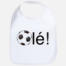Ole - Football (Soccer) Chant Black Text Bib