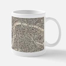 Vintage Map of London England (1899) 2 Mugs