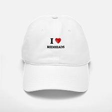 I Love Redheads Baseball Baseball Cap
