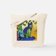Cute Modern cat art Tote Bag