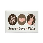 Peace Love Viola Rectangle Magnet (10 pack)