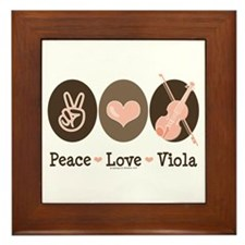 Peace Love Viola Framed Tile
