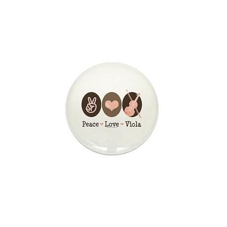 Peace Love Viola Mini Button