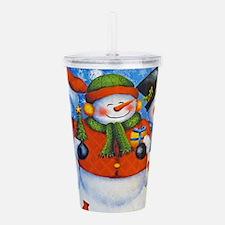 3 Happy Snowmen Acrylic Double-wall Tumbler