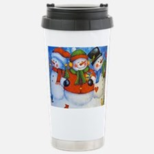3 Happy Snowmen Travel Mug