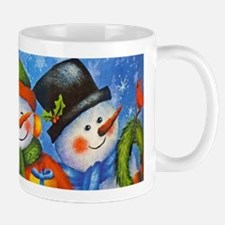 3 Happy Snowmen Mugs