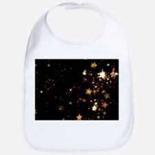 black gold stars Bib