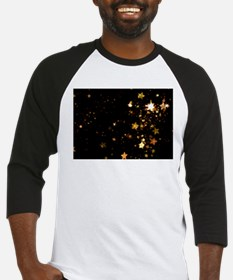 black gold stars Baseball Jersey