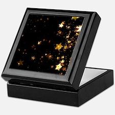 black gold stars Keepsake Box