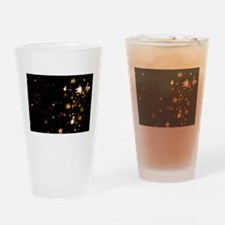 black gold stars Drinking Glass