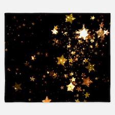 black gold stars King Duvet