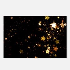 black gold stars Postcards (Package of 8)