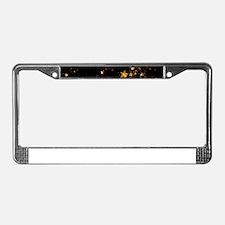 black gold stars License Plate Frame