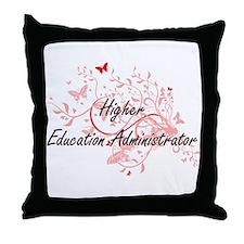 Higher Education Administrator Artist Throw Pillow