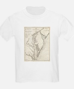 Vintage Map of The Chesapeake Bay (1893) T-Shirt
