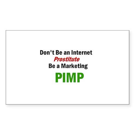 PIMP Rectangle Sticker