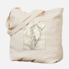Vintage Map of The Chesapeake Bay (1893) Tote Bag