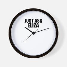 Just ask ELIZA Wall Clock