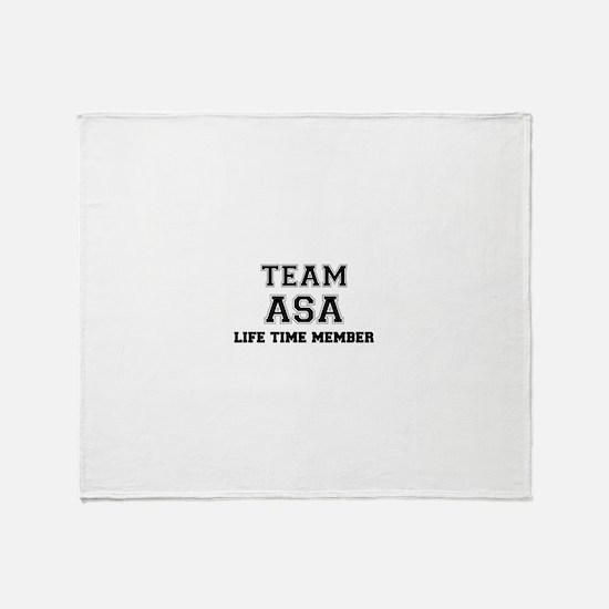 Team ASA, life time member Throw Blanket