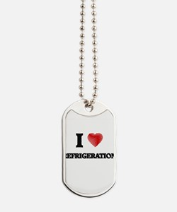 I Love Refrigeration Dog Tags