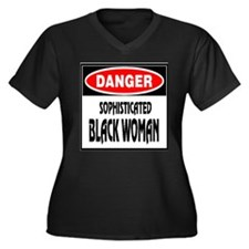 DANGER -- Sophisticated Black Women's Plus Size V-