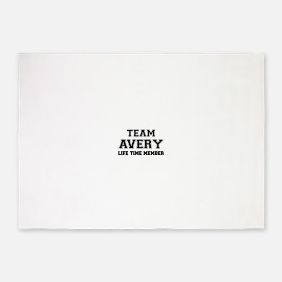 Team AVERY, life time member 5'x7'Area Rug