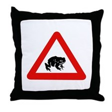 Frog Crossing, UK Throw Pillow