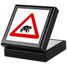 Frog Crossing, UK Keepsake Box