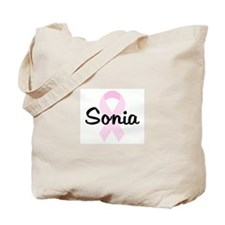 Sonia pink ribbon Tote Bag