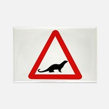 Caution Otters, UK Rectangle Magnet