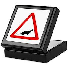 Caution Otters, UK Keepsake Box