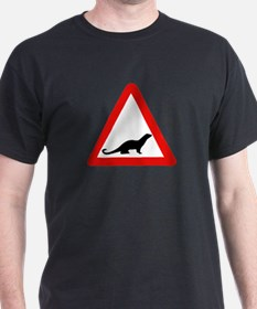 Caution Otters, UK T-Shirt