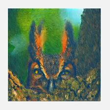 Funny The owl box Tile Coaster