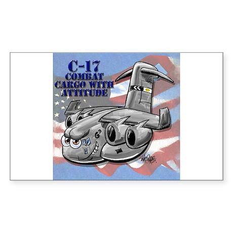 C-17 Globemaster III Rectangle Sticker