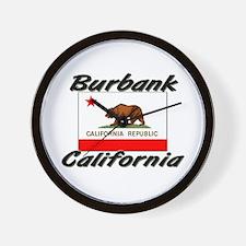 Burbank California Wall Clock