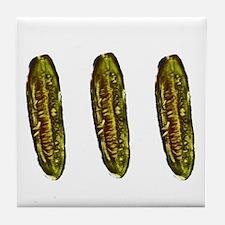 Three Pickles Tile Coaster
