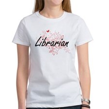 Librarian Artistic Job Design with Butterf T-Shirt